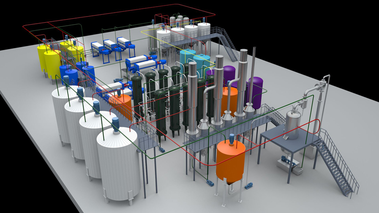 syrup processing line flow chart