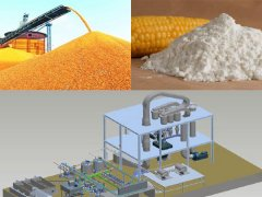 Maize starch plant machinery